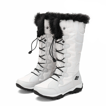 Women winter outdoor hiking boots ladies waterproof wool liner snow boots women non-slip snow shoes cotton boots for-40c