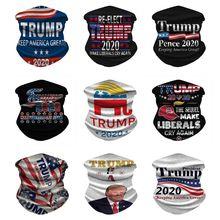 Flag Face-Mask-Bandana Trump USA President Great-Neck Keep-America