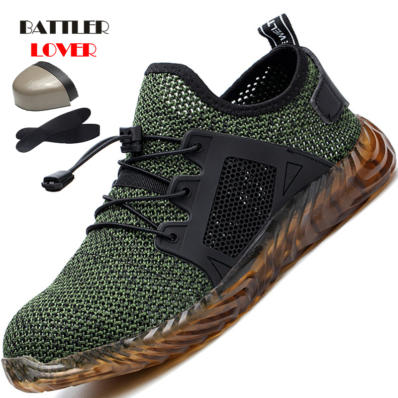 Drop shipping Indestructible Ryder Shoes Men And Women Steel Toe Air Safety Boots Puncture-Proof Work Sneakers Breathable Shoes
