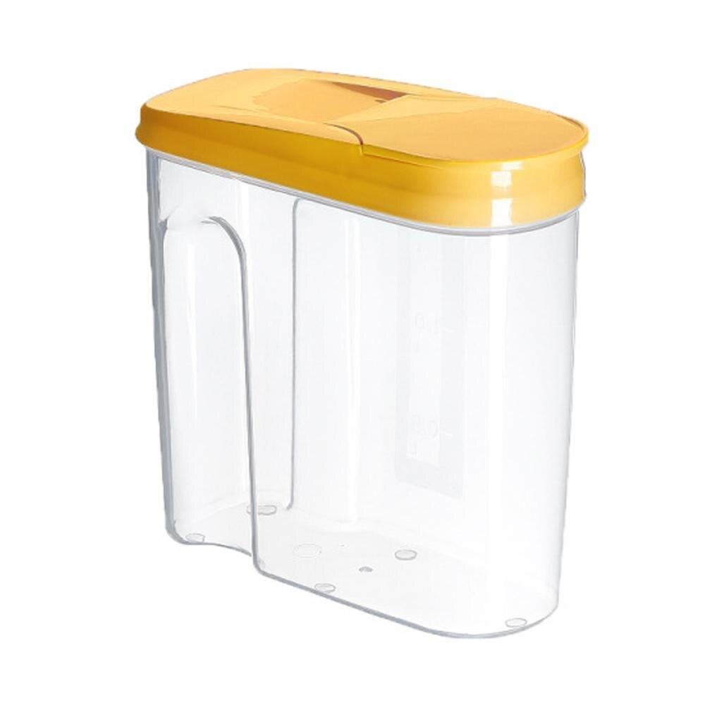 1 Pcs 1.8L / 2.5L Cereal Dispenser Storage Box Kitchen Food Grain Rice Container
