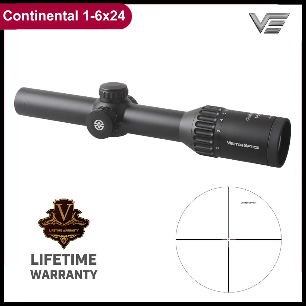 Vector Optics Континентальный HD 1-6x24 прицел для охотничьей винтовки, с подсветкой Dot Reticle немецкая оптическая система