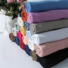 50cmx130cm Cotton Linen Fabric 25 Colors Wrinkle DIY Sewing Fabrics Thin Plain Linen Cloth for Garment Textile DIY Making