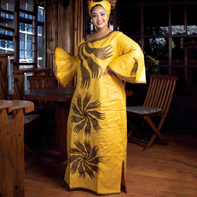 African-Dresses Party-Gowns Ankara-Robe Bazin Riche Plus-Size Women European New