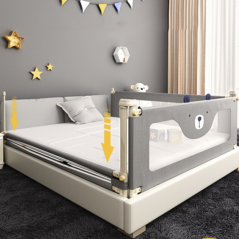 Baby Safety Bed Fence Set/3pcs Playpen Crib Anti-fall Guardrail Vertical Lifting Bed Guardrail Rail  Adjustable Newborn Fence