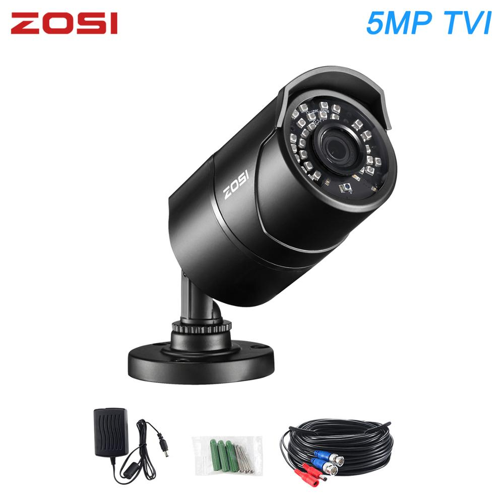 ZOSI 5MP 2560*1920P TVI IR CUT Nightvision Waterproof CCTV Video Bullet Outdoor Indoor Security Camera for DVR System Kit image