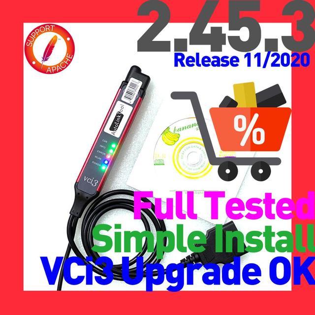 VCI3 herramienta de diagnóstico profesional de motor de alta resistencia, actualización SDP3 2.45.3, NEXiq USBLINK2 DPA5, no es Compatible