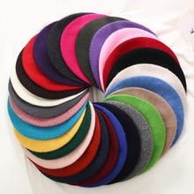 Зимние береты для женщин и девочек, плоская кепка, винтажный однотонный берет для женщин, яркие цвета, женская теплая Мода