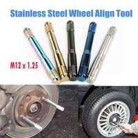 M12 * 1.25 koło samochodowe wyrównanie narzędzie ze stali nierdzewnej wyrównanie Camber Castor Strut narzędzia do naprawy opon wyrównanie szpilki poziomnica w Akcesoria do opon od Samochody i motocykle na
