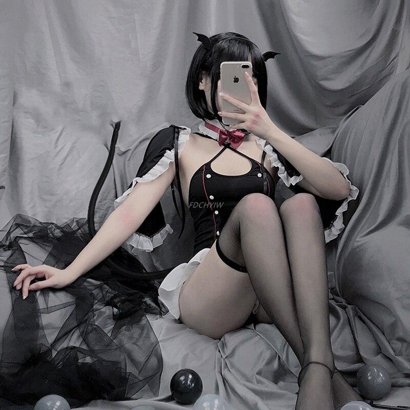 Купить горячее сексуальное нижнее белье комплект косплей демона слуга