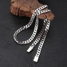 V. Ya 100% 925 Sterling Zilveren Ketting Voor Mannen Thai Zilveren Punk Ketting Voor Vrouwen 8Mm Wideth Zilveren Sieraden 55cm 60Cm