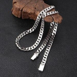 Image 1 - V. Ya 100% 925 Sterling Zilveren Ketting Voor Mannen Thai Zilveren Punk Ketting Voor Vrouwen 8Mm Wideth Zilveren Sieraden 55cm 60Cm
