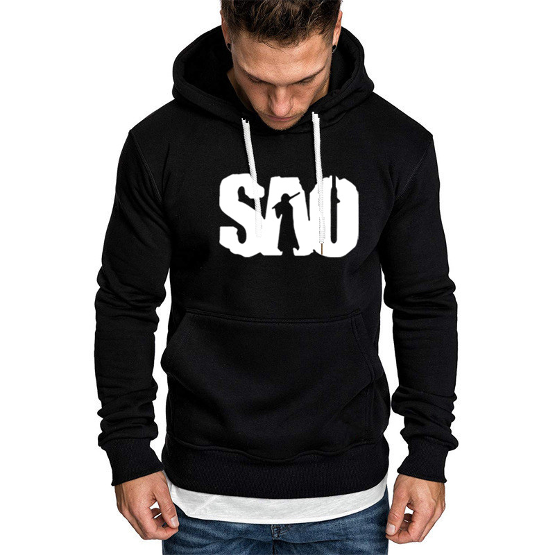 SAO Sword Art Online Winter Autumn Hoodies Men Anime COS Clothing Fleece Sweatshirt Mens Hip Hop Hoodies Harajuku Streetwear