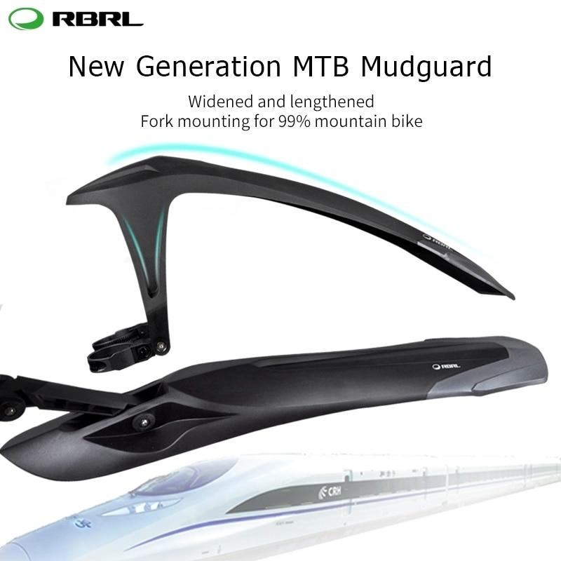 RBRL MTB Mudguard Adjustable Bicycle Fender Sets Patent Design E-Bike Fender Quick Release For 24 26 27.5 29 inch bike RL-990(China)
