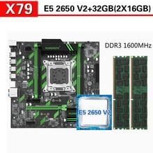 Xeon E5 2650 V2 2x16GB = 32GB 1600MHz DDR3 ECC REG 메모리가있는 HUANANZHI X79 마더 보드