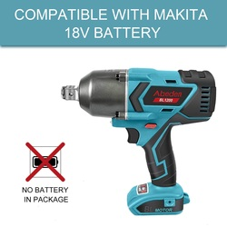 Abeden for Makita 18V Electric Impact Wrench Brushless 1200 N.M Cordless Socket Wrench High Torque 3/4 Power Tool