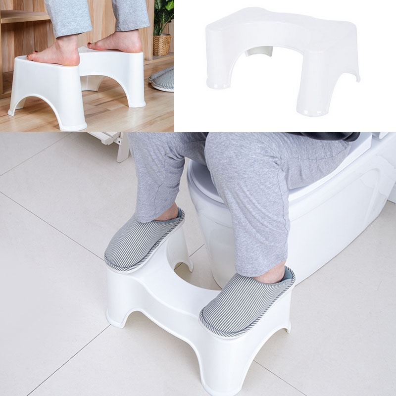 U-Shaped Squatting Toilet Stool Non-Slip Pad Bathroom Helper Assistant Foot Seat Relieves Constipation Piles 39x22.5x17cm