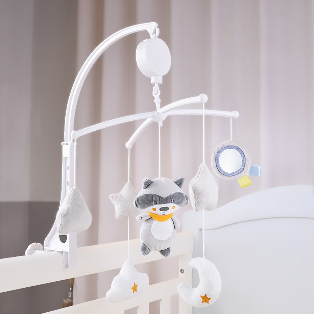 Baby Infant Crib Mobile Rattles Bed Bell Toy Rotating Music Box With Holder Baby Bed Stroller Toy Cartoon Doll Toys For Children