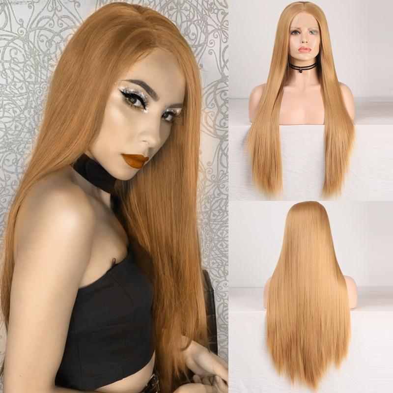 Charisma peruca de renda sintética, perucas sintéticas para cosplay, longa reta, resistente ao calor, feita de cabelo sintético para mulheres