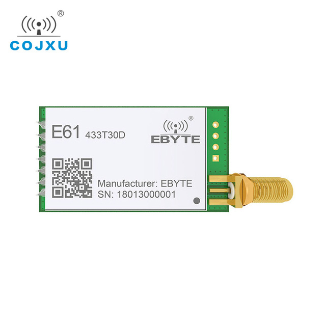 433MHz TCXO طويلة المدى E61 433T30D جهاز الإرسال والاستقبال اللاسلكية وحدة الإرسال والاستقبال UART البيانات