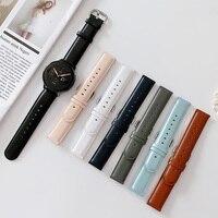 20mm 22mm Mode Farben Lederband für Samsung Galaxy Uhr 3 Band 41mm 45mm 46mm 42mm Aktive 2 Armband Uhr Gürtel