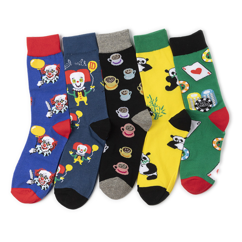 2020 Newly Men Socks Cotton Casual Personality Design Hip Hop Streetwear Happy Socks Gifts For Men Brand Quality