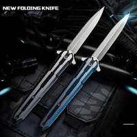 High Hardness Outdoor Self-defense Folding Knife Camping Survival Portable Knife Tactics High Quality Sharp Fruit Military Knife