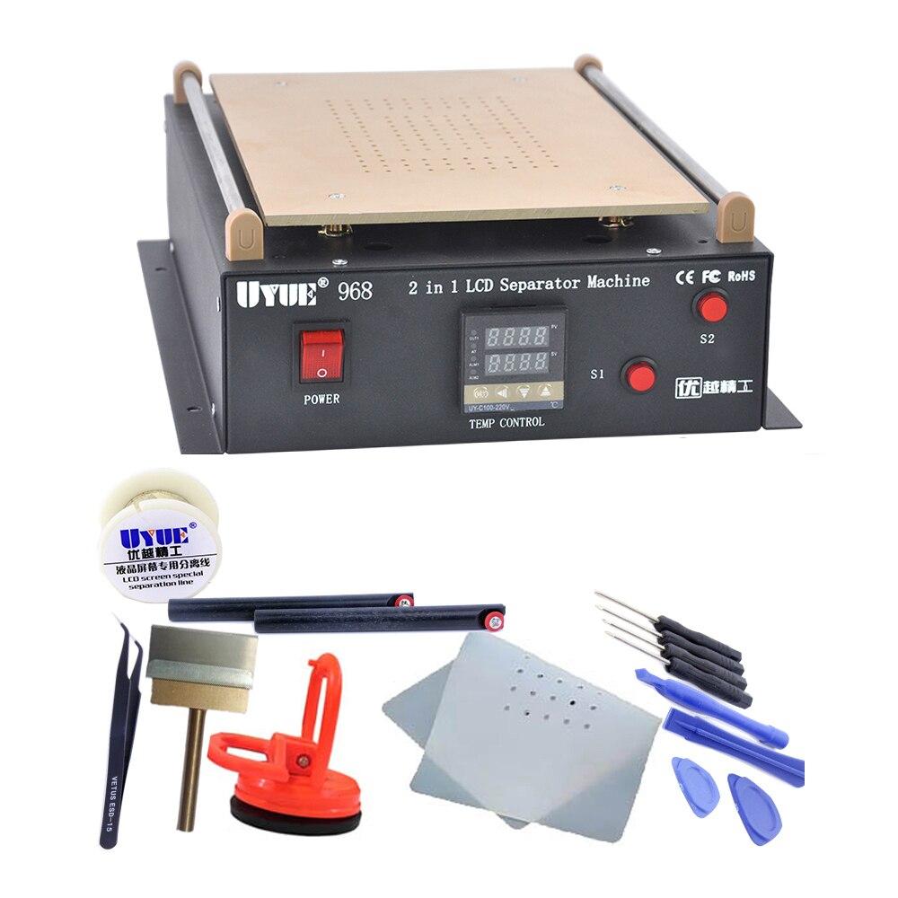 UYUE968 14 Inches Build-in Air Dual Pump Vacuum Pump LCD Separator Screen Repair For IPad/Samsung Tablet Repair Machine Kit