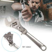 8 inch Adjustable Ratchet Wrench 180degree Rotation Foldable Spanner Wrench J8