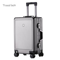 Retro 100% aluminum frame 20/24 inch Rolling Luggage Spinner Multifunction Men Suitcase Wheels brand Women Travel Bag