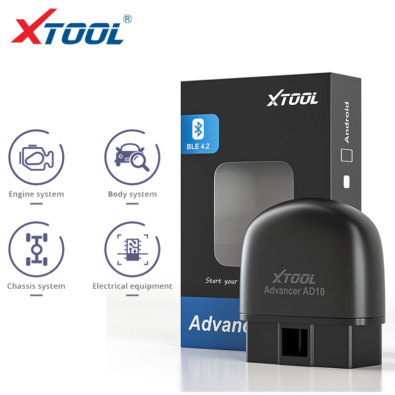 XTOOL 2020 AD10 Bluetooth Code Reader OBD2 ELM327 Auto Diagnistic Scanner OBD HUD Mini Car Tools Engine 4 System For Android IOS