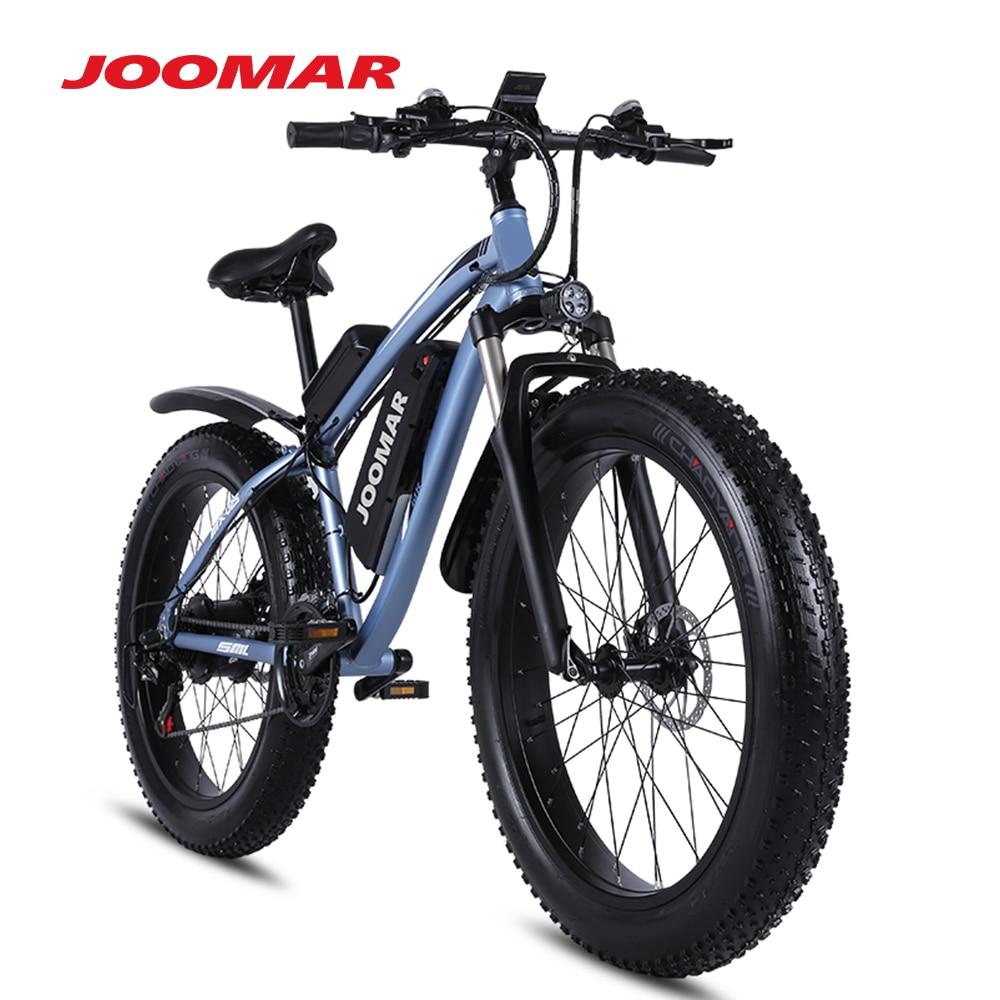 JOOMAR 1000 Вт Электрический велосипед шины электровелосипеда 26 дюймов Топ Алюминий из алюминиевого сплава с плоской подошвой, уличные пляжные ...