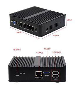 Image 2 - جهاز كمبيوتر صغير إنتل راوتر لينة سيليرون J1900 رباعية النوى 2.0GHZ 4 LAN جيجابت إيثرنت 3xUSB HDMI VGA واي فاي Pfsense جدار الحماية راوتر