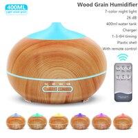 400ml Usb-luftbefeuchter Aroma Diffusor fernbedienung 7 Farben Ändern Led-leuchten kühlen nebel maker Xiomi Luftreiniger für Home