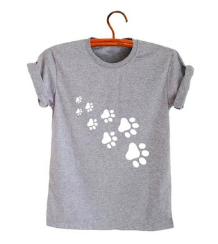 cat paws print Women tshirt Cotton Casual Funny t shirt For Lady Top Tee Lady 6 Colors Drop Ship Z-326 cat print tee