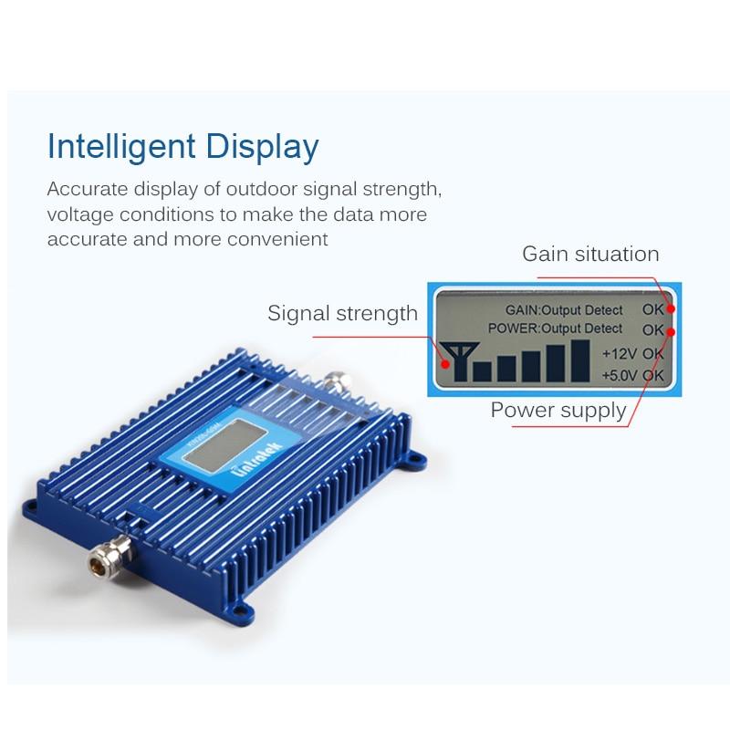 Lintratek 70dB AGC 3G Repeater 2100MHz Band 1 UMTS Mobile Signal - Reservdelar och tillbehör för mobiltelefoner - Foto 3