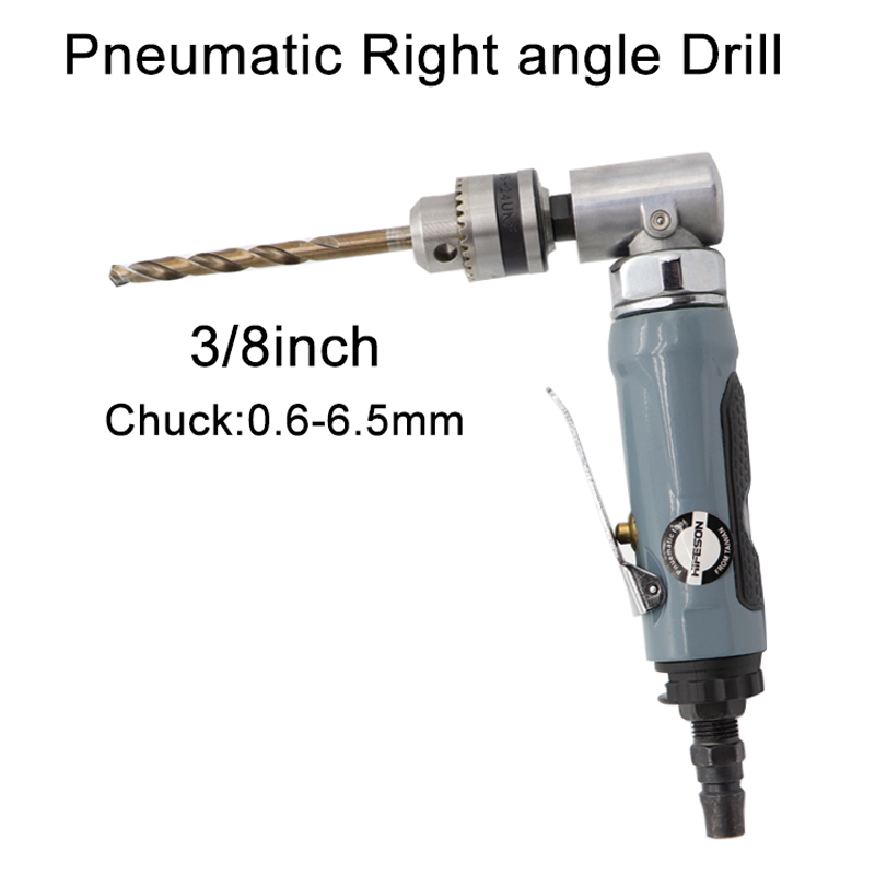 Tools : 3 8inch  0 6-6 36mm Pneumatic Air Drill Gun 90 Degree High-Speed Pistol Type Guns Drill Reversible Tool for Hole Drilling