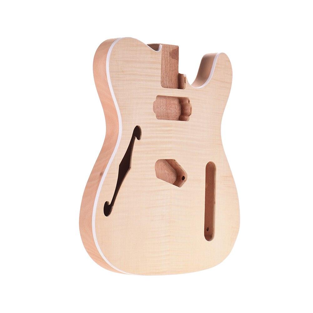 Muslady TL-FT03 non fini guitare corps acajou bois blanc guitare baril pour télé Style guitares électriques bricolage pièces - 4