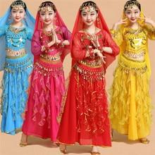 Taniec brzucha tancerz ubrania Bollywood indyjskie kostiumy do tańca dla dzieci dziecko Sexy odzież do tańca brzucha taniec orientalny na scenie