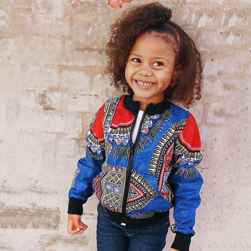 MUQGEW Jacket Dashiki African Coats Outwear Warm Toddler Baby Girl Autumn Kids Windproof