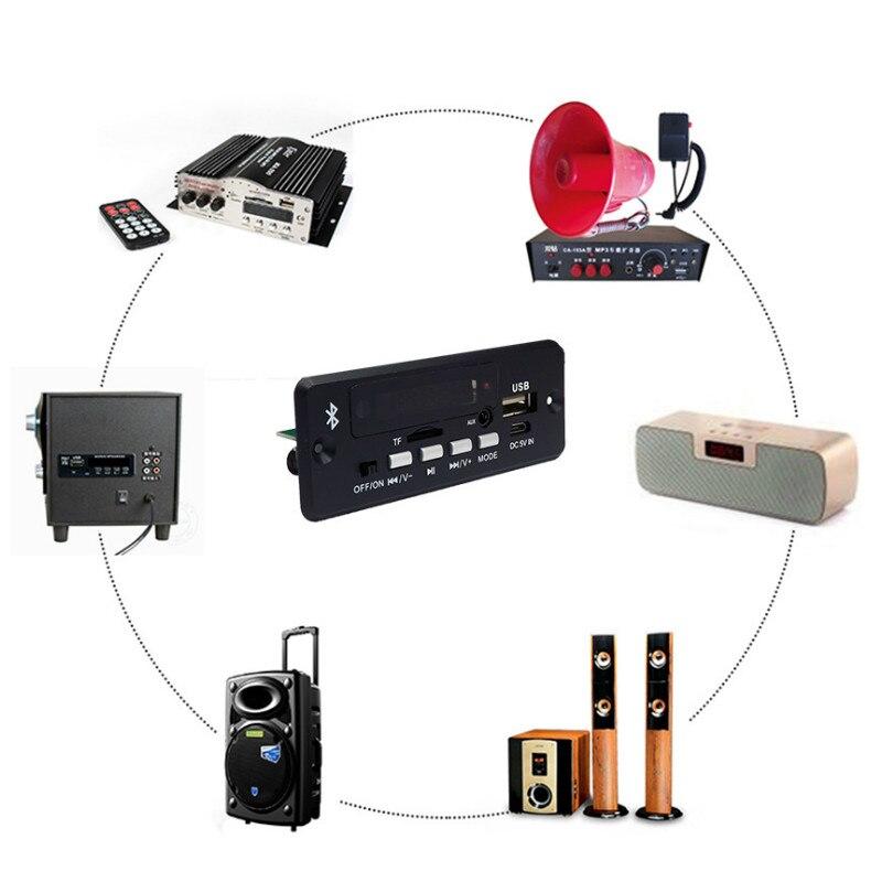 SOTAMIA MP3 Bluetooth 5,0 Decoder Board Stereo Power Verstärker Audio Amp 5Wx2 AUX FM USB SD Unterstützung WAV WMA FLAC dekodierung