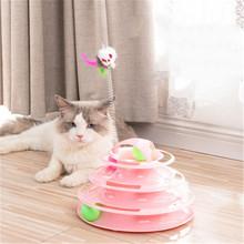 Szkolenie inteligencja wieża tory płyta zabawka dla kota 3 poziomy zabawka dla kota zabawne tory wieżowe płyty tory dla kota zabawki zabawki dla kota tanie tanio Piłki cats Z tworzywa sztucznego