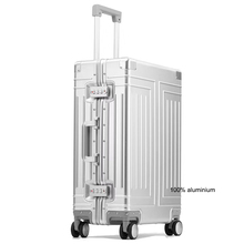 """Carrylove 20 """"24"""" 26 """"29"""" inç alüminyum arabası bavul su geçirmez metalik kabin bagaj trolly çantası tekerlekler"""