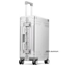 """Carrylove 20 """"24"""" 26 """"29"""" zoll aluminium trolley koffer wasserdicht metallic kabine gepäck trolly tasche mit räder"""