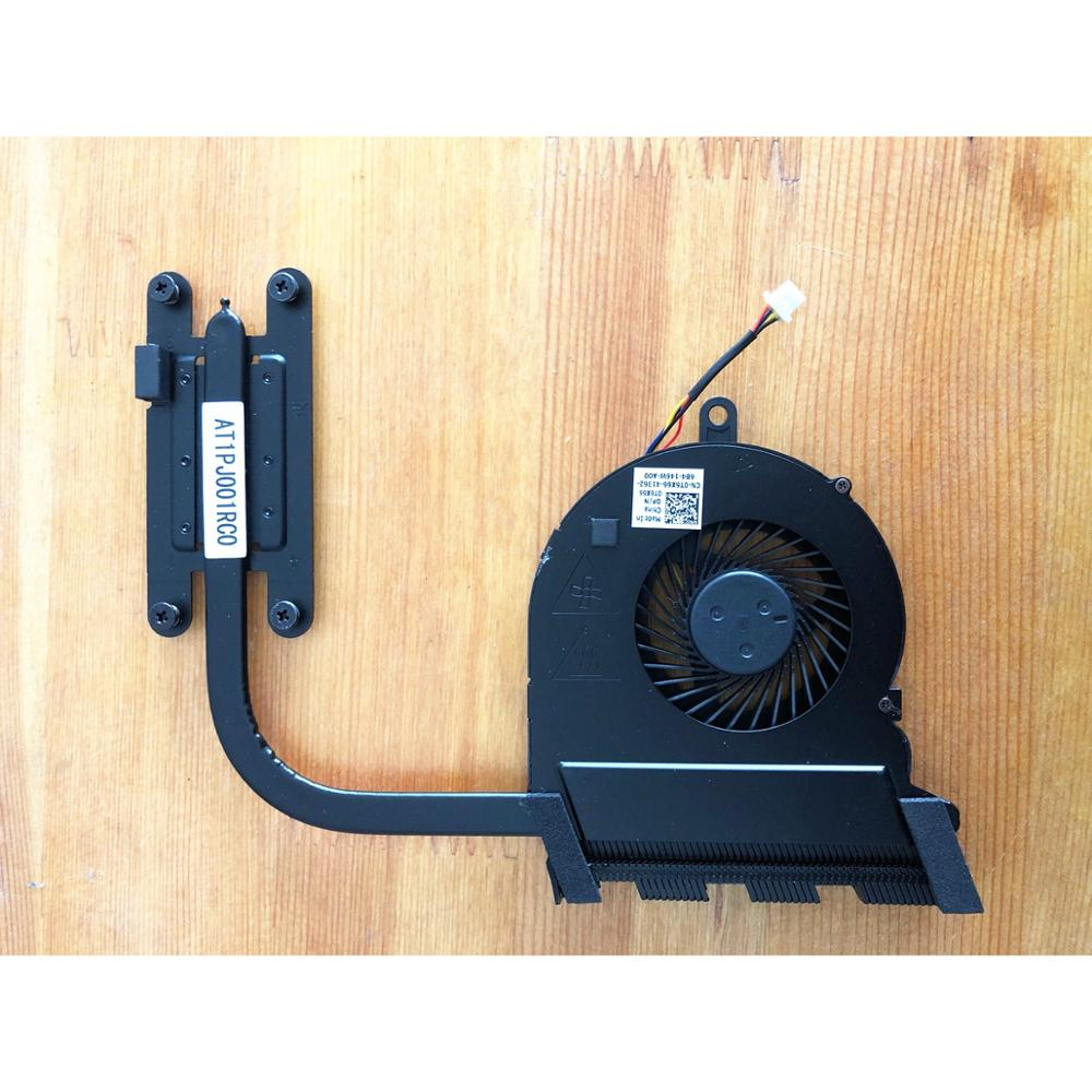 T6X66 0T6X66 CN-0T6X66 Genuine Cooling Fan + Heat-sink AT1PJ001RC0 For Dell Inspiron 15 5567 5767 UMA Laptop