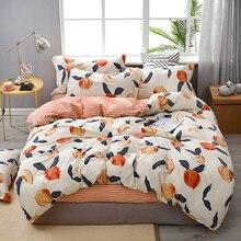 Fashion Bedding Set luxury Pink love Family Set Sheet Duvet Cover Pillowcase Full King Single Queen