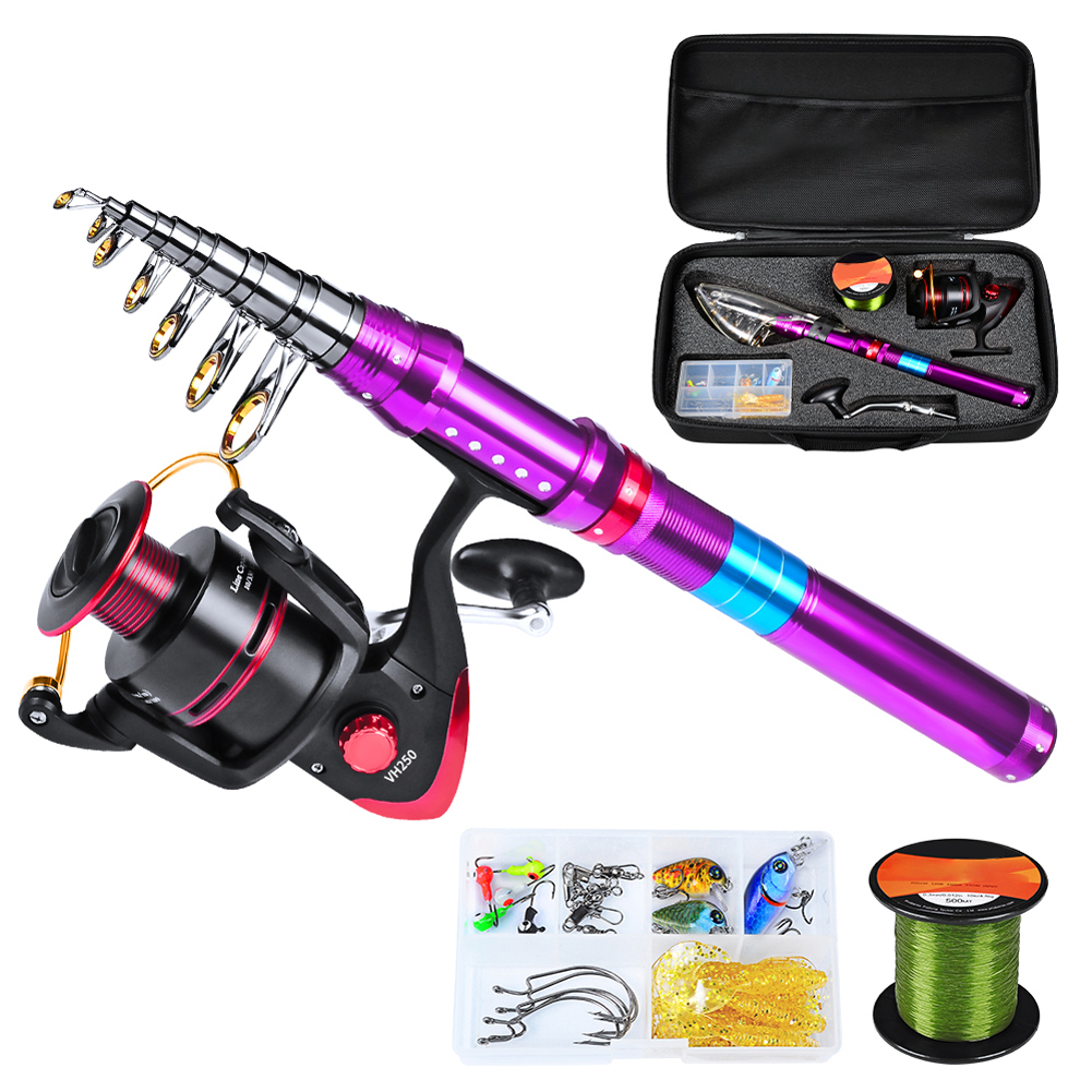 Fishing Pole Spinning Reel Carrier Bag Set Universal Fishing Rod Reel Combos Telescopic for Saltwater Freshwater Fishing Gear|Rod Combo|   - title=