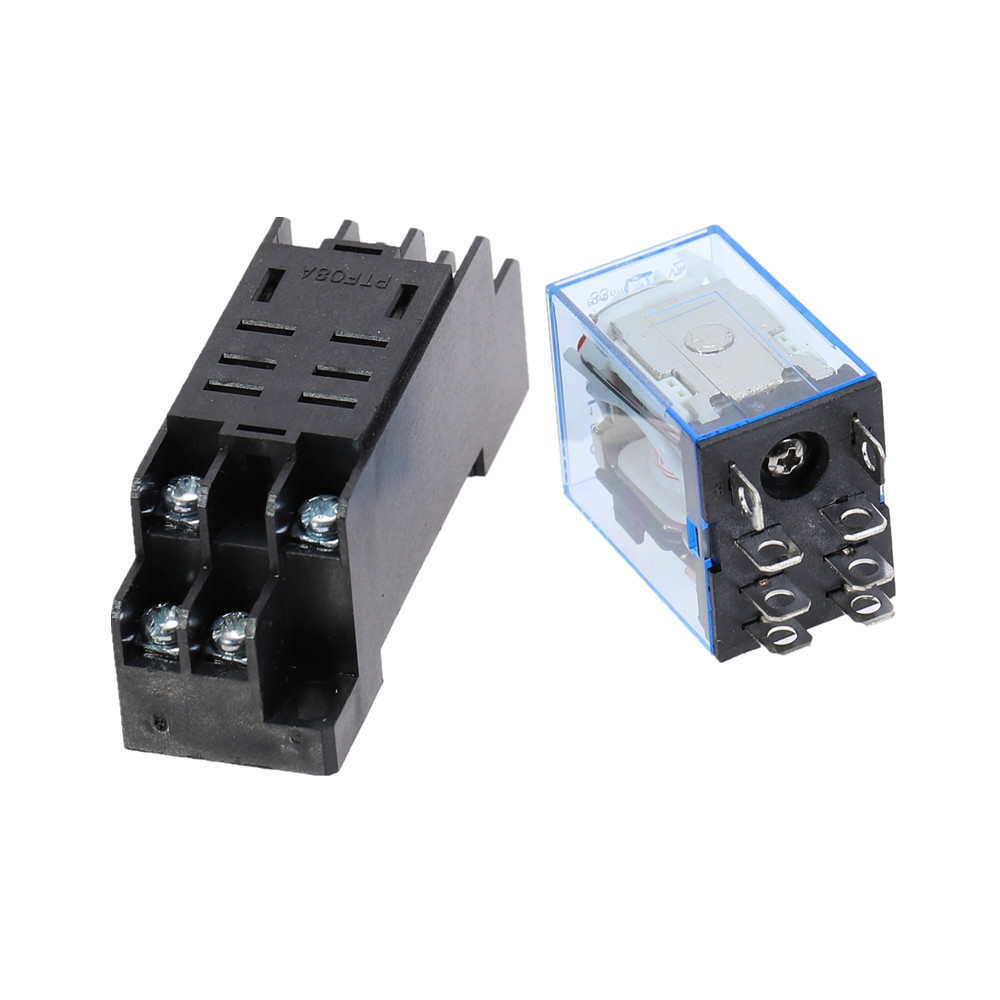12VDC Coil Power Relay MY4NJ  4NO 4NC 14 Pins with Socket Base Free Postage