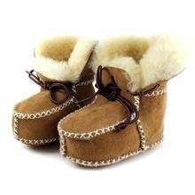 Baby Boots Bebe Newborn Girls Boys Kids Winter Snow 6-Colors Crib Sheepskin Fur-Wool