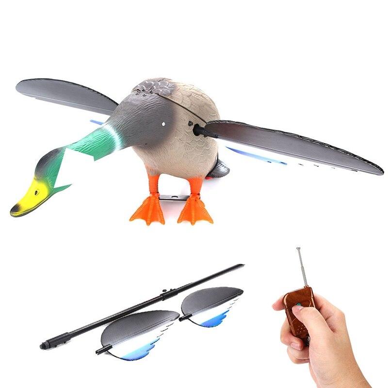 Canard de chasse de leurres de chasse motorisés en plastique de cc 6V avec des ailes de rotation - 5