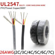 26AWG UL2547 drut ekranowany 2 3 4 5 6 7 rdzenie pcv izolowany wzmacniacz kanałowy Audio kabel sygnałowy z cynowanej miedzi przewód sterujący tanie tanio CN (pochodzenie) Miedziane ze skrętek Napowietrzne Izolowane 300V 80Deg C Tinned-Copper UL VW-1 7 0 14TS 300M 2C 3C 4C